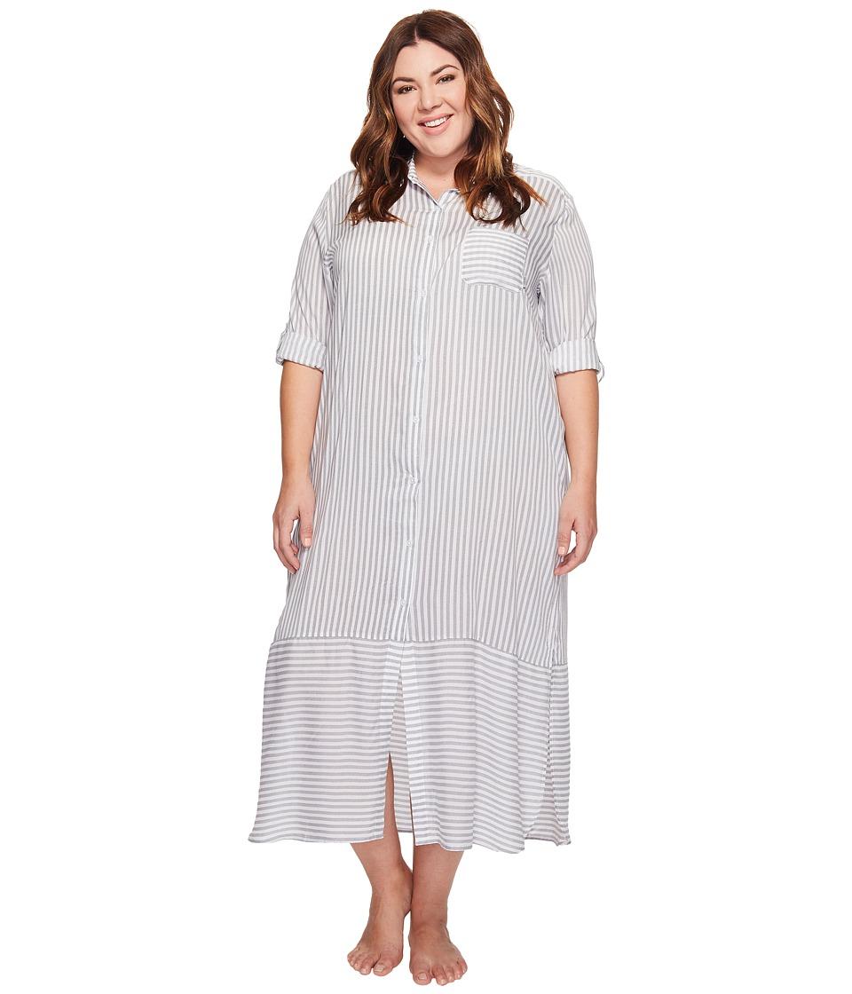 DKNY - Plus Size Fashion Long sleeve Sleep Maxi