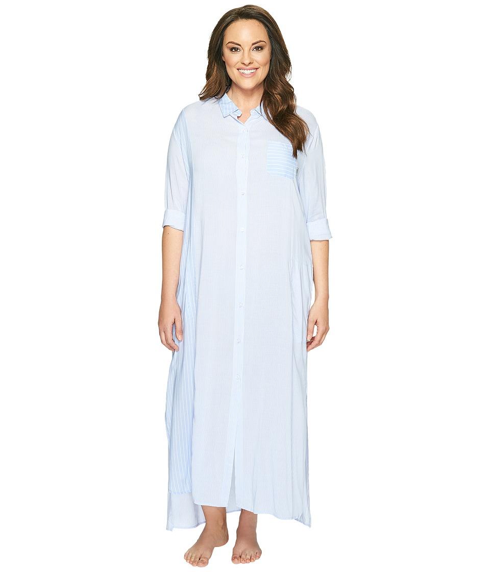 DKNY DKNY - Plus Size Fashion Long Sleeve Maxi Robe