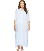 DKNY - Plus Size Fashion Long Sleeve Maxi Robe