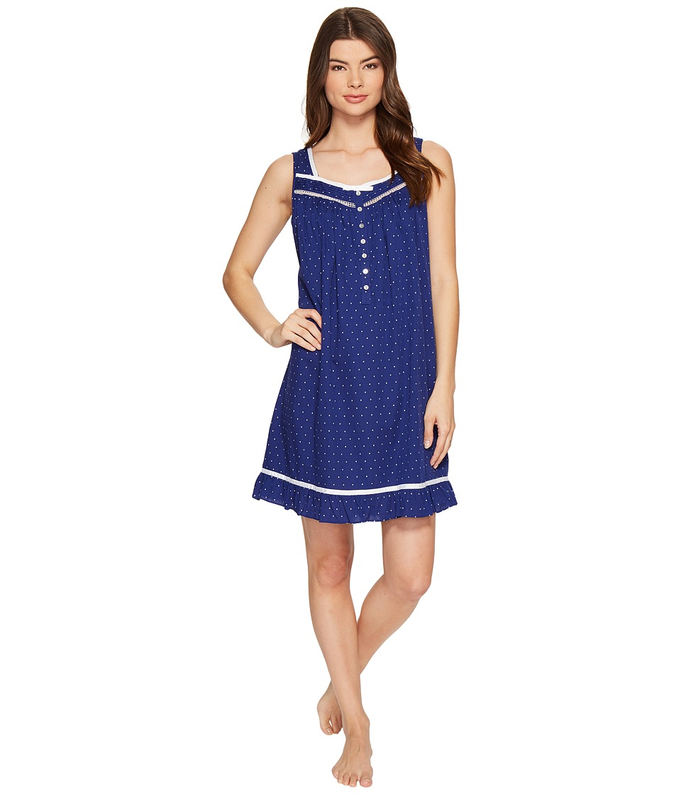 Eileen West - Cotton Woven Dot Short Nightgown
