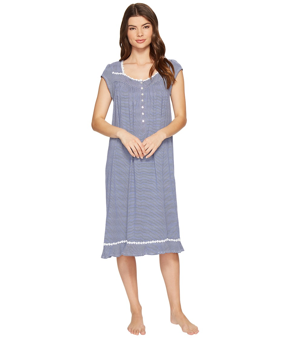 Eileen West - Cotton Stripe Waltz Nightgown