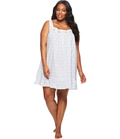 Eileen West - Plus Size 100% Cotton Lawn Short Nightgown