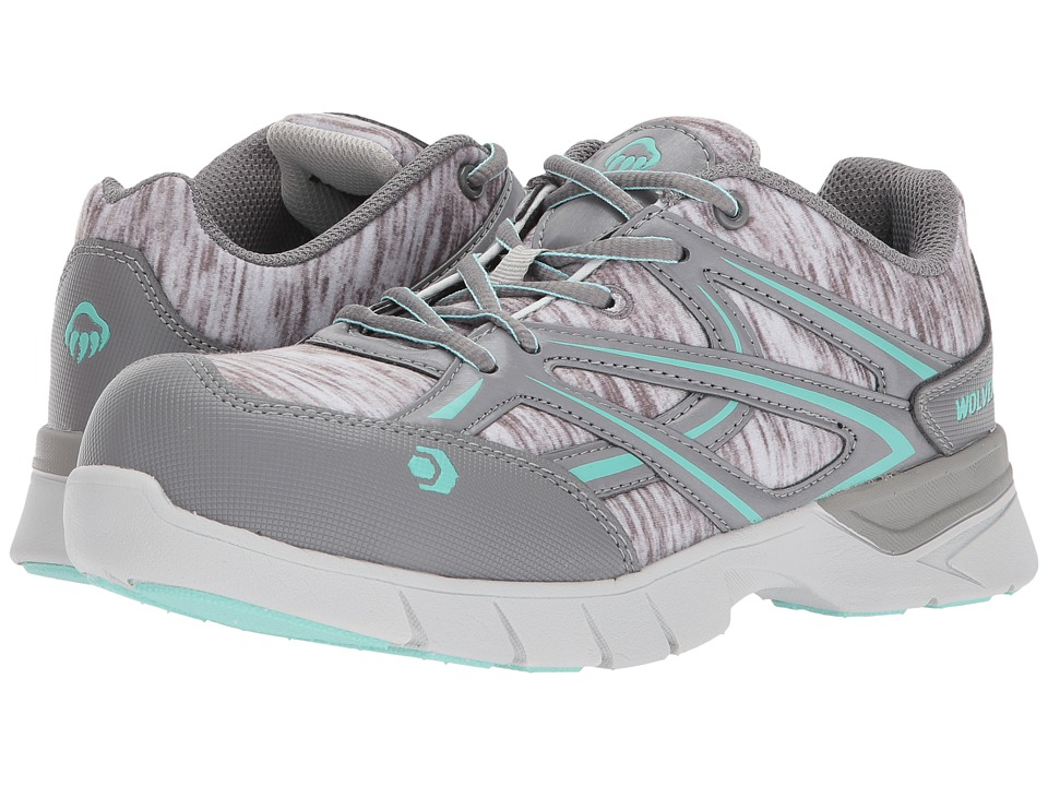 Wolverine Jetstream CarbonMAX Safety Toe (Grey/Blue) Women's Shoes