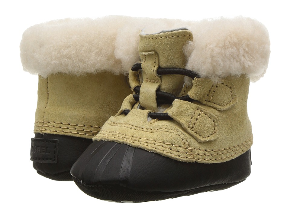 SOREL Kids Caribootie (Infant) (Curry/Black) Kid's Shoes