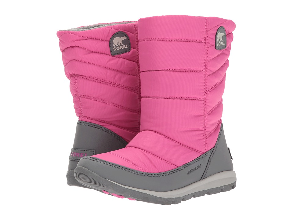 SOREL Kids Whitney Mid (Toddler/Little Kid/Big Kid) (Pink Ice/Quarry) Girls Shoes