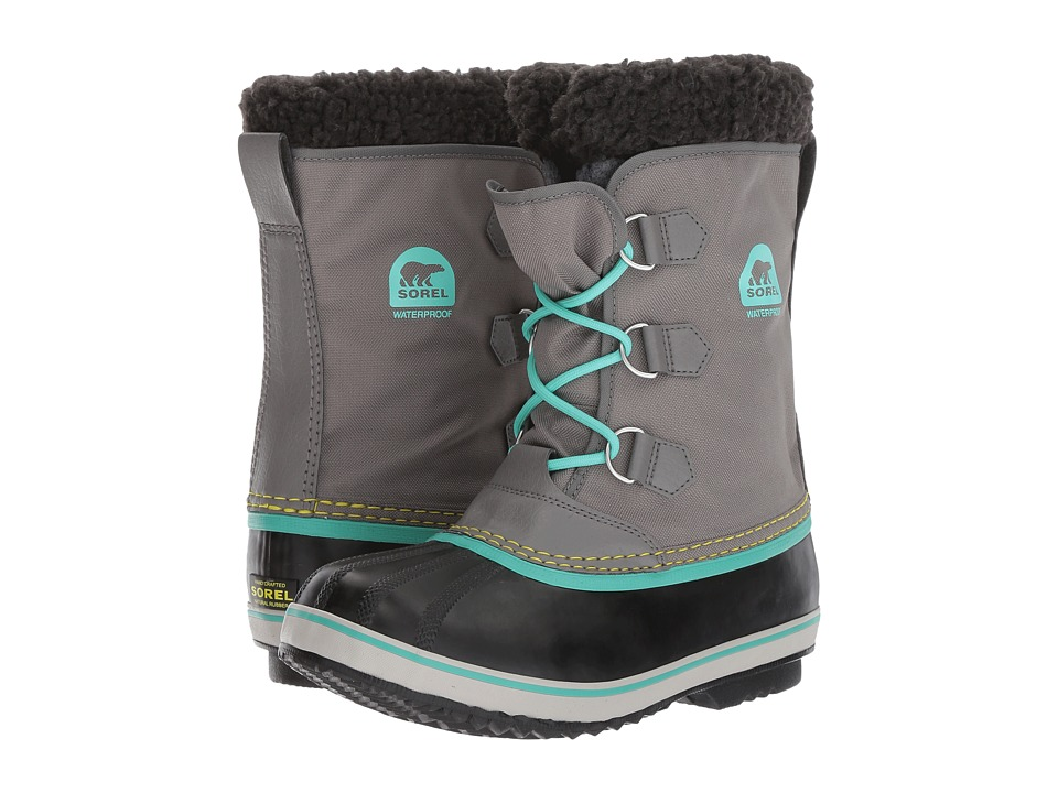 SOREL Kids Yoot Pac Nylon (Little Kid/Big Kid) (Quarry/Dolphin) Girls Shoes
