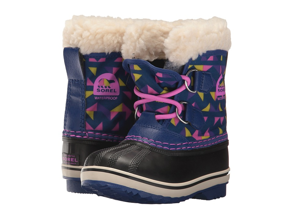 SOREL Kids Yoot Pac Nylon Print (Toddler/Little Kid) (Aviation/Foxglove) Girls Shoes