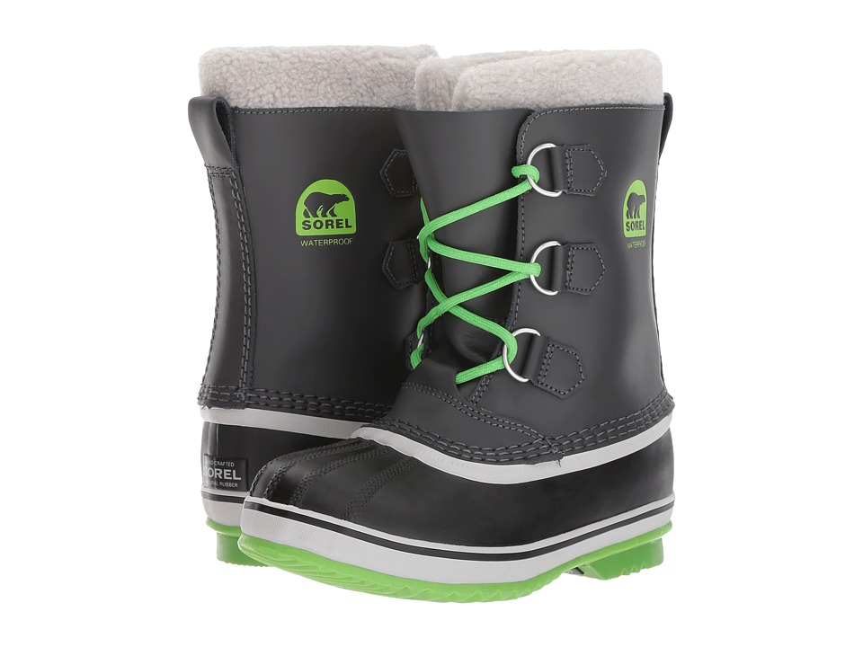 SOREL Kids - Yoot Pac TP (Little Kid/Big Kid) (Shark/Cyber Green) Boys Shoes