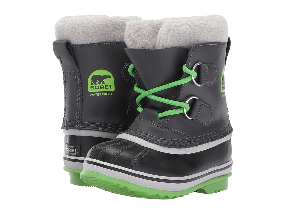SOREL Kids - Yoot Pac TP (Toddler/Little Kid) (Shark/Cyber Green) Boys Shoes