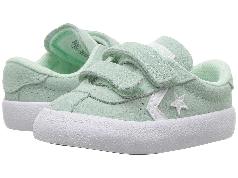 Converse Kids Breakpoint 2V Suede Ox (Infant/Toddler) (Mint Foam/Mint Foam/White) Girl