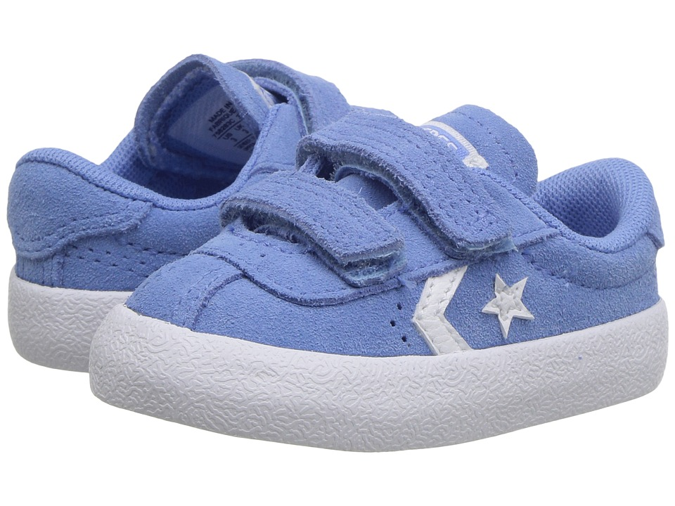 Converse Kids Breakpoint 2V Suede Ox (Infant/Toddler) (Pioneer Blue/Pioneer Blue/White) Girl