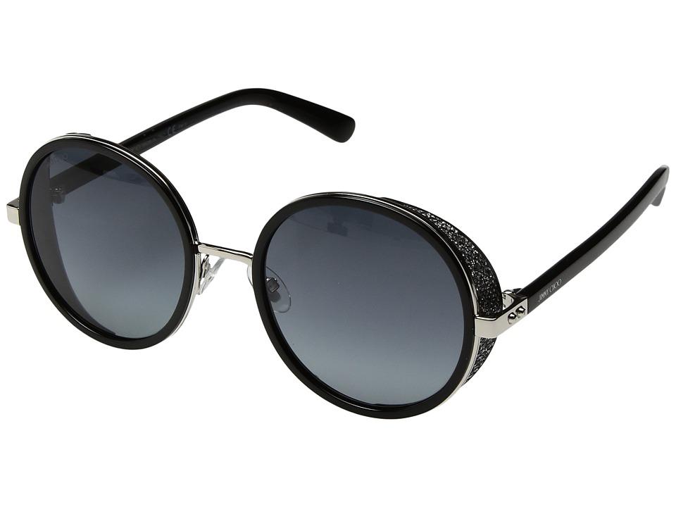 Jimmy Choo - Andie/N/S (Palladium/Black/Gray Gradient Lens) Fashion Sunglasses
