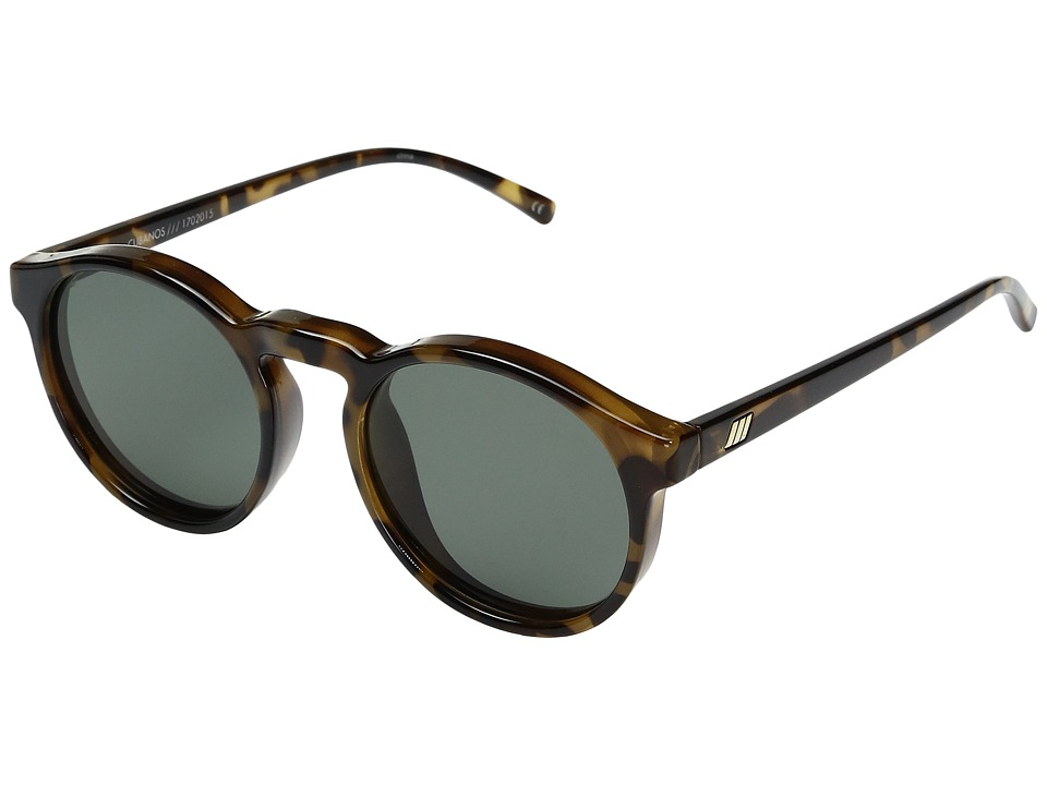 Le Specs - Cubanos (Milky Tortoise/Khaki Mono Polarized) Sport Sunglasses