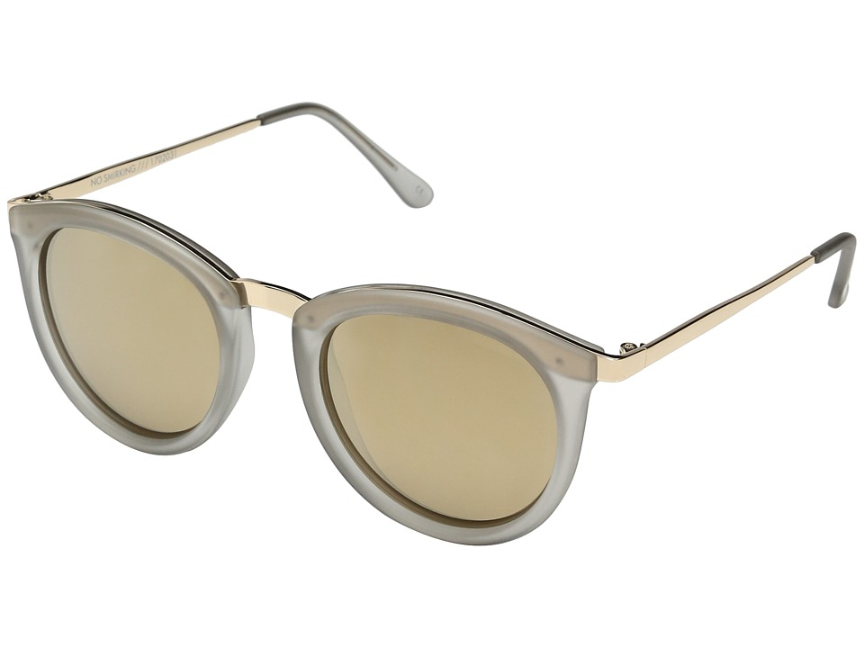 Le Specs - No Smirking (Mist Matte/Gold Revo Mirror Polarized) Fashion Sunglasses