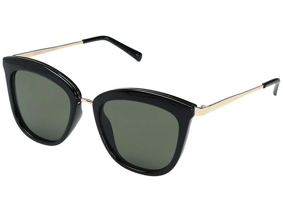 Le Specs - Caliente (Black/Gold/KhakiMono) Sport Sunglasses