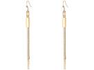 GUESS Multi Flat Slinky Chain Linear Earrings