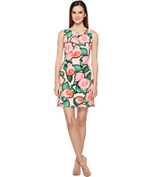 Taylor - Rose Print Beaded Stretch Crepe Shift Dress