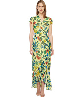 Taylor - Chiffon Floral Maxi Wrap Dress