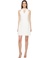 Taylor - Pearl Neck Stretch Crepe Sheath Dress