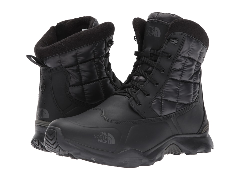 The North Face ThermoBall Boot Zipper (Shiny TNF Black/Beluga Grey) Men