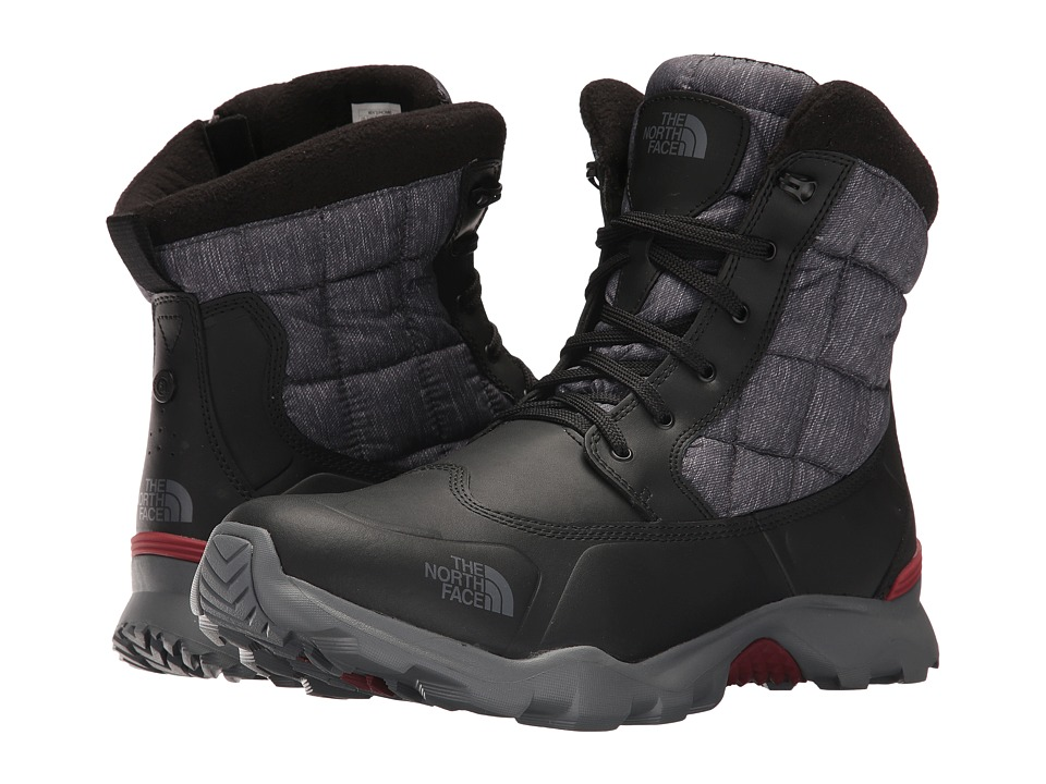 The North Face ThermoBall Boot Zipper (Phantom Grey Heather Print/Rudy Red) Men