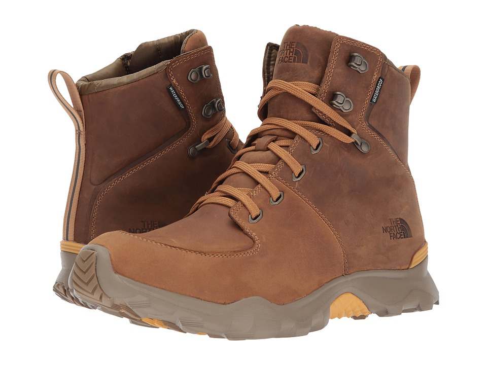 The North Face - ThermoBall Versa (Bone Brown/Tinsel Yellow (Past Season)) Mens Lace-up Boots