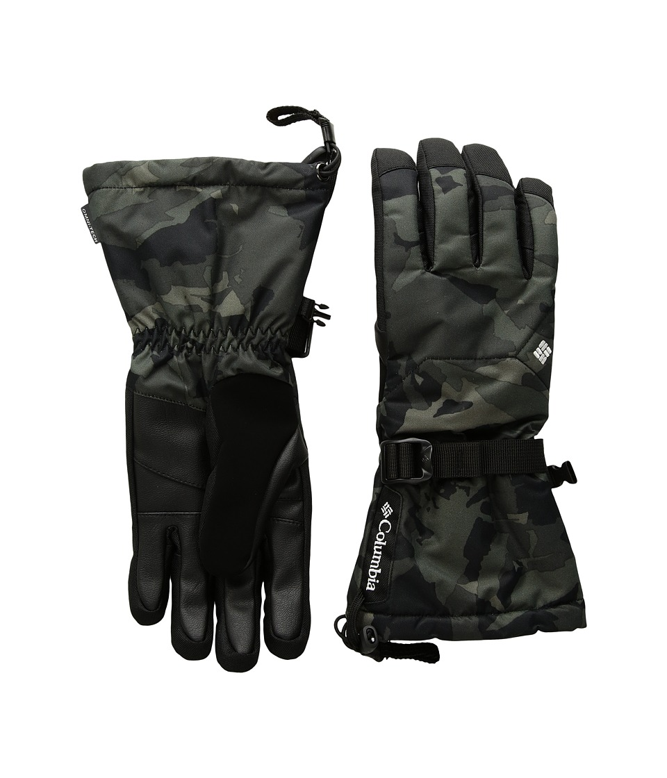Columbia Whirlibirdtm Ski Glove (Black Woodsy Camo/Black) Extreme Cold Weather Gloves