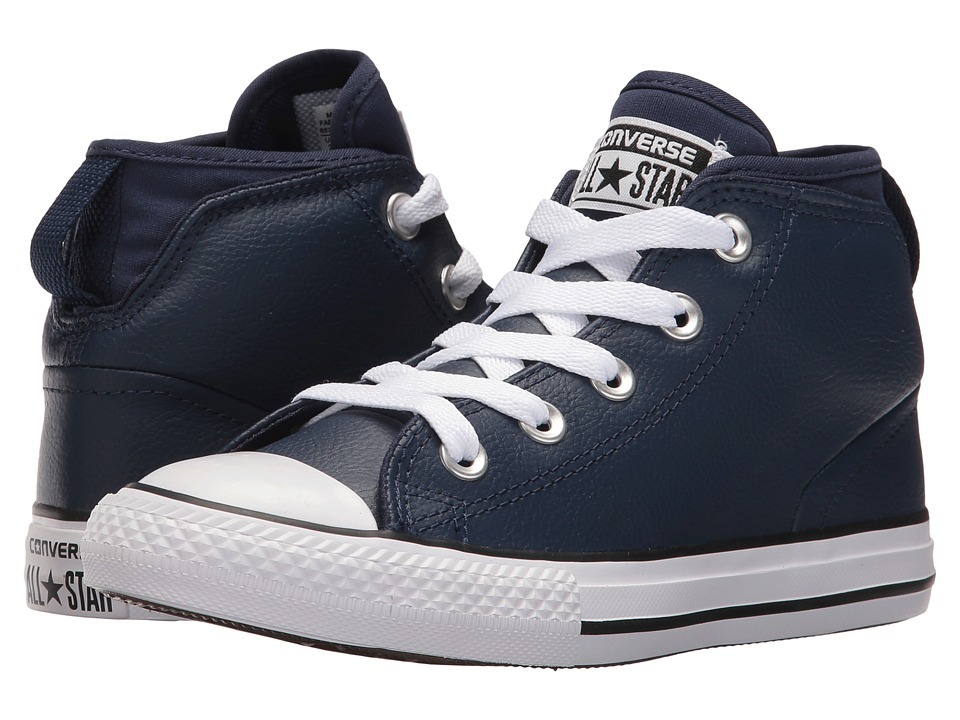 Converse Kids - Chuck Taylor All Star Syde Street Mid (Little Kid/Big Kid) (Midnight Navy/Midnight Navy/White) Boys Shoes