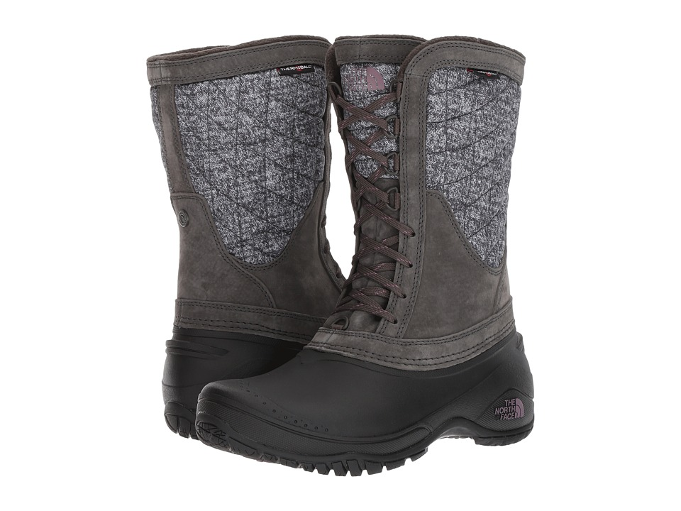 The North Face ThermoBall Utility Mid (Burnished Houndstooth Print/Black Plum) Women