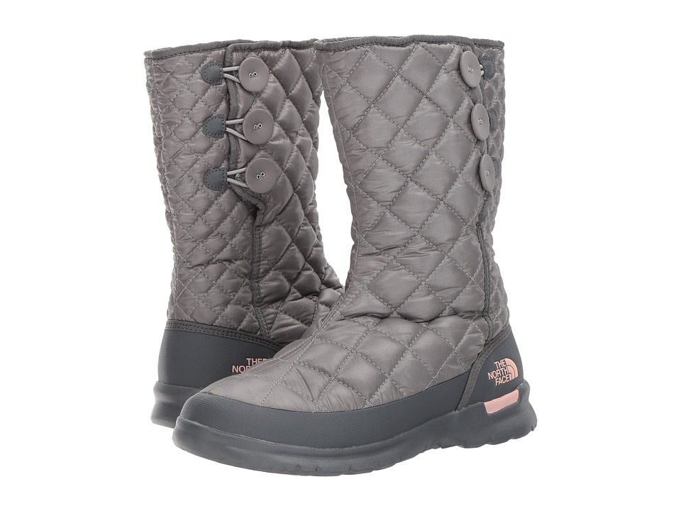 The North Face - ThermoBall Button Up (Shiny Frost Grey/Iron Gate Grey (Past Season)) Womens Pull-on Boots