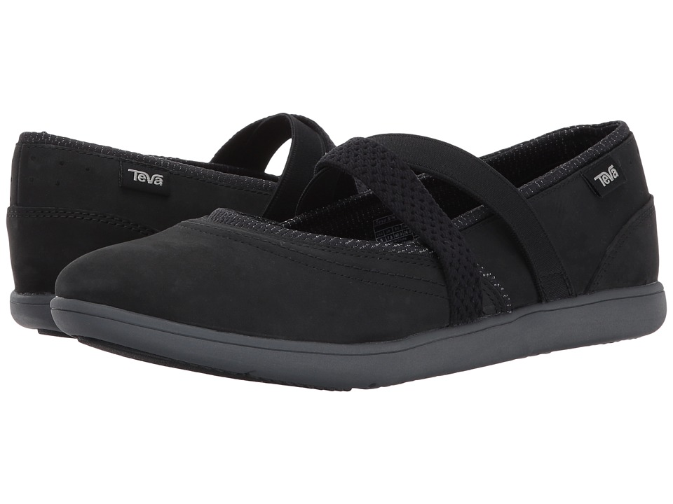 Teva Hydro-Life Slip-On Leather (Black) Women
