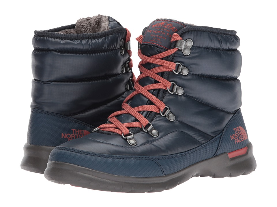The North Face - ThermoBall Lace II (Shiny Ink Blue/Etruscan Red (Past Season)) Womens Pull-on Boots
