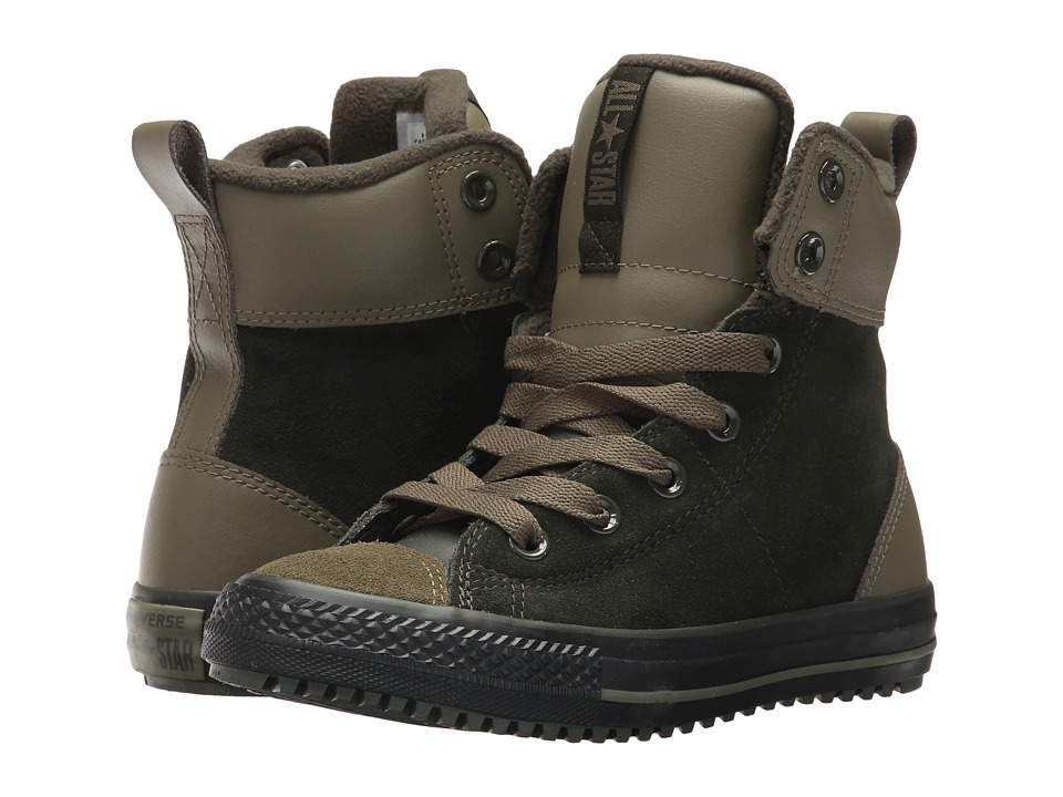 Converse Kids - Chuck Taylor All Star Asphalt Boot Hi (Little Kid/Big Kid) (Sequoia/Medium Olive/Black) Boys Shoes