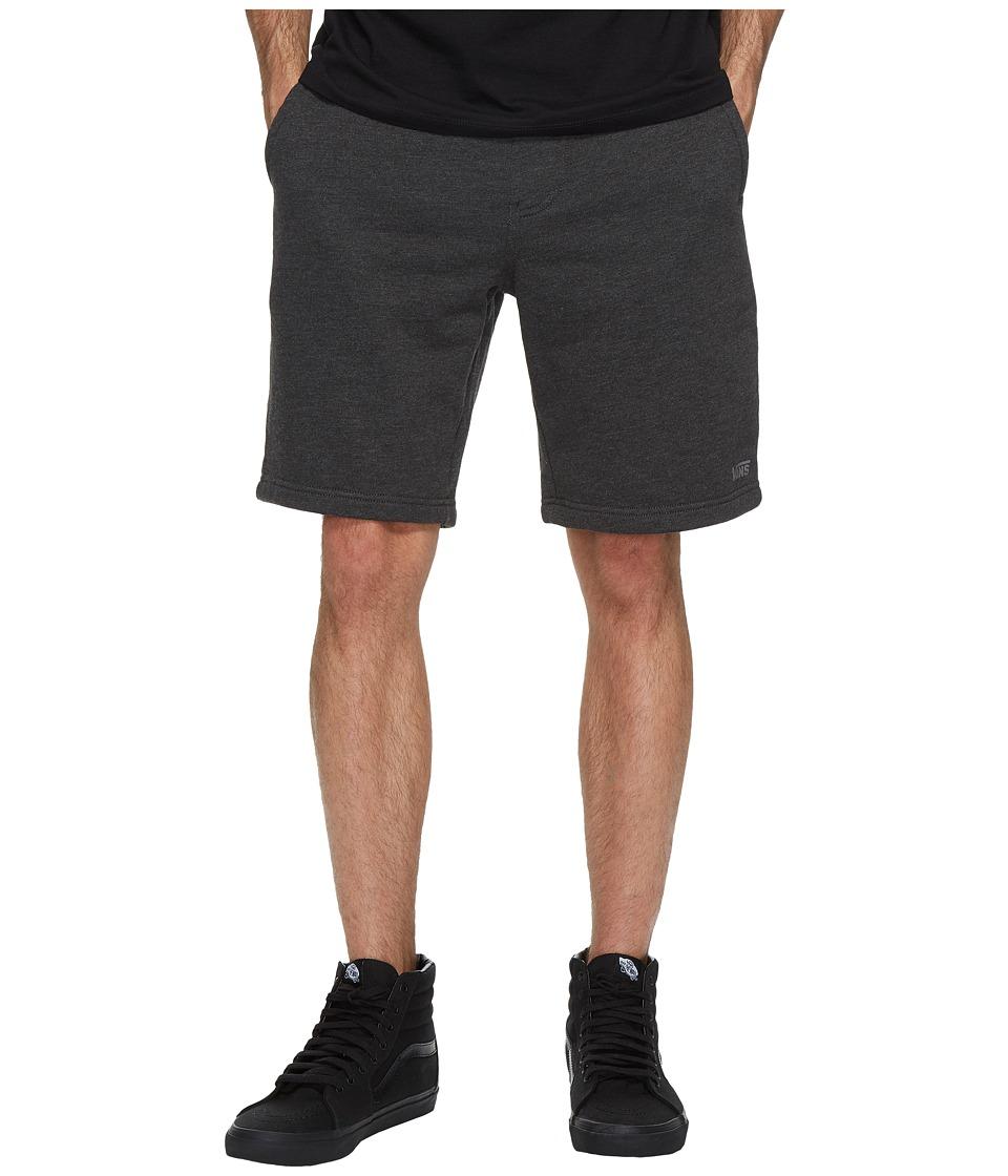Vans Core Basic Fleece Shorts 20 (Black Heather) Men