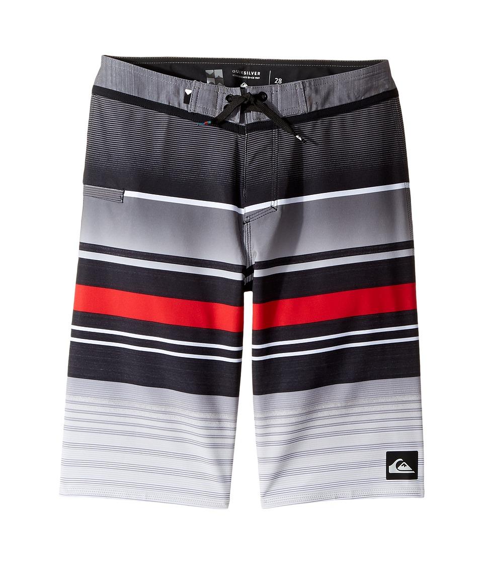 Quiksilver Kids Everyday Stripe Vee Boardshorts (Big Kids) (Black) Boy