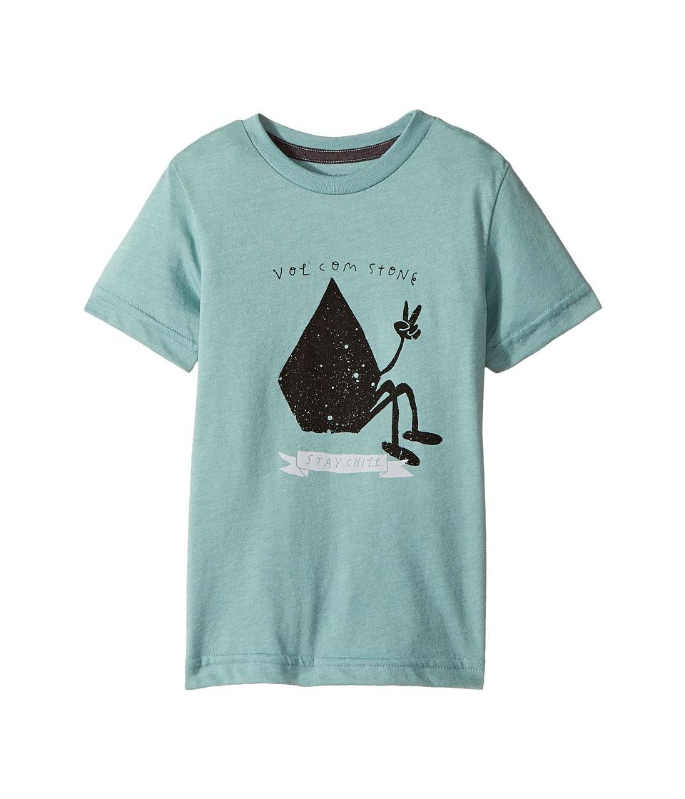 Volcom Kids Stay Chill Short Sleeve (Toddler/Little Kids) (Sea Blue) Boy