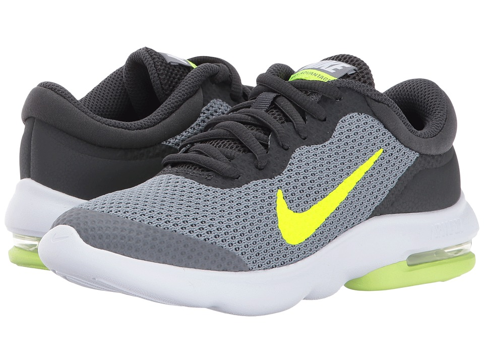 Nike Kids Air Max Advantage (Little Kid/Big Kid) (Cool Grey/Volt/Anthracite/White) Boys Shoes