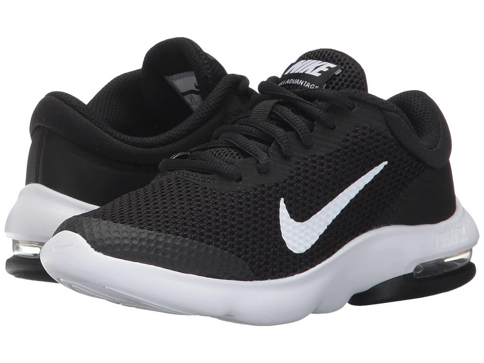 Nike Kids Air Max Advantage (Little Kid/Big Kid) (Black/White) Boys Shoes