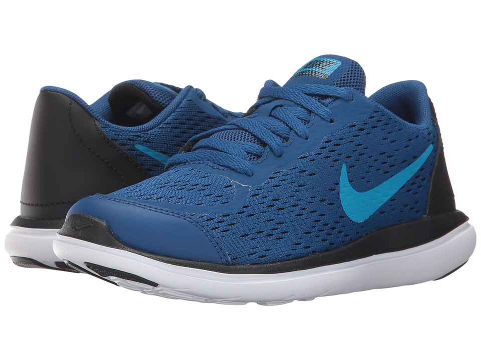 Nike Kids Flex RN 2017 (Little Kid) (Gym Blue/Blue Orbit/Black/White) Boys Shoes