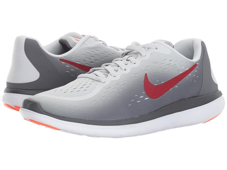 Nike Kids Flex RN 2017 (Big Kid) (Pure Platinum/Tough Red/Dark Grey) Boys Shoes