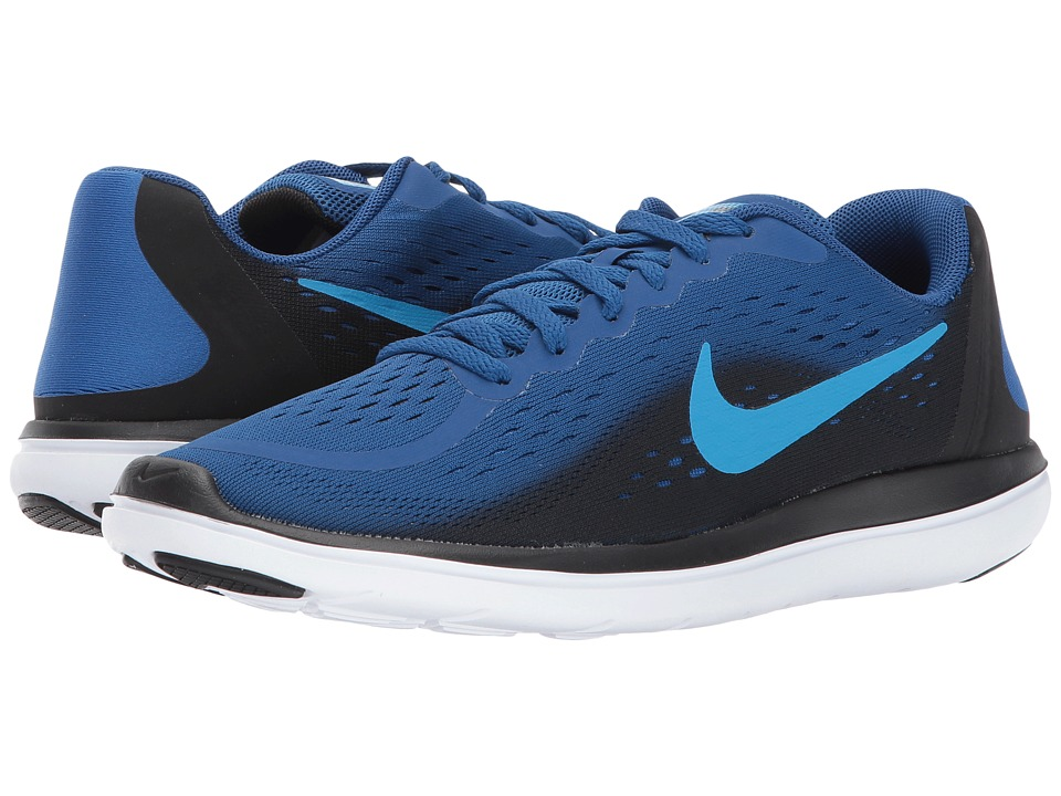 Nike Kids Flex RN 2017 (Big Kid) (Gym Blue/Blue Orbit/Black/White) Boys Shoes