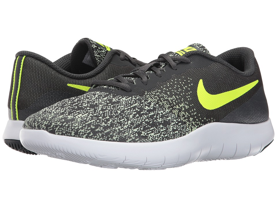 Nike Kids Flex Contact (Big Kid) (Anthracite/Volt/Barely Volt/White) Boys Shoes