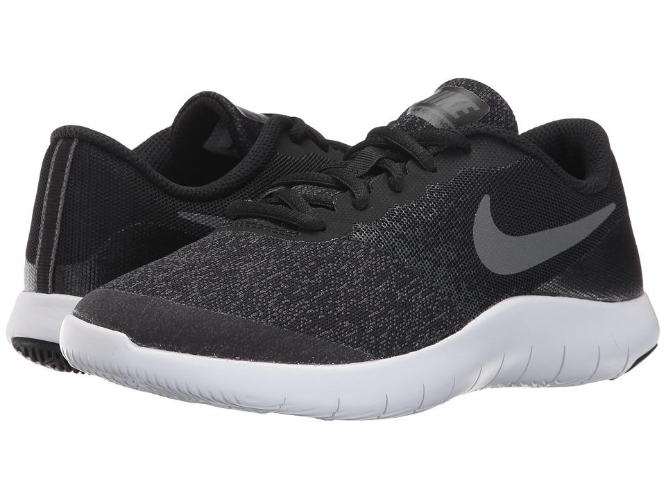 Nike Kids Flex Contact (Big Kid) (Black/Dark Grey/Anthracite/White) Boys Shoes