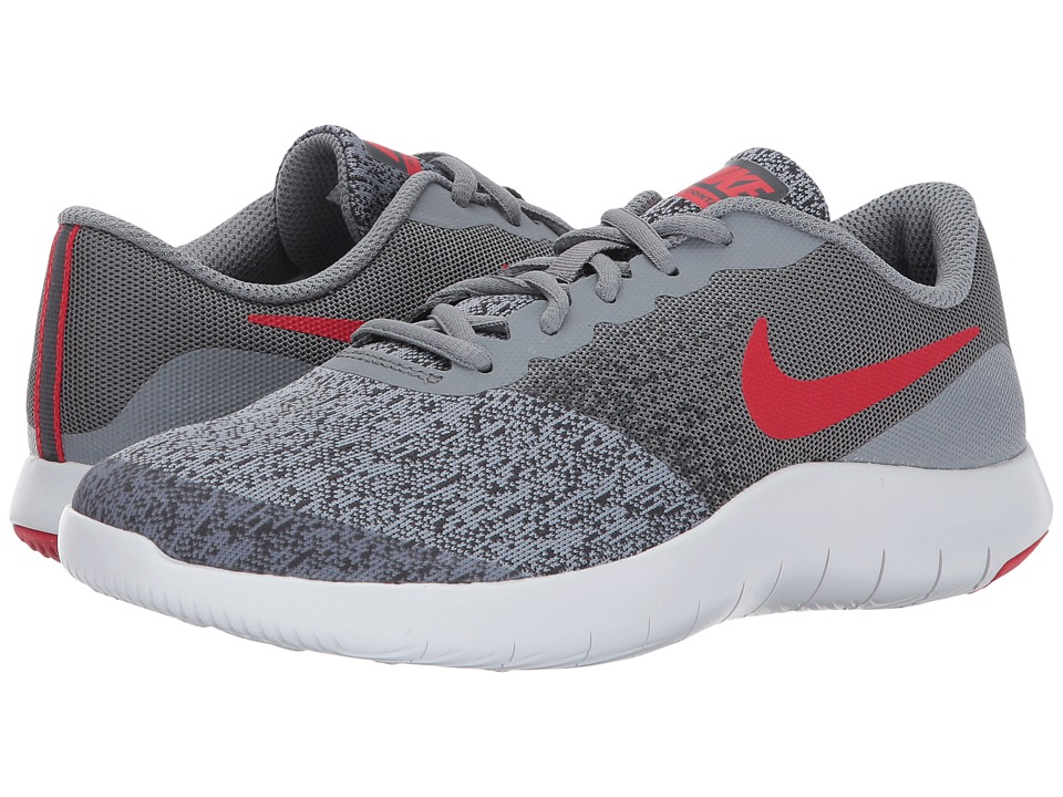 Nike Kids Flex Contact (Big Kid) (Cool Grey/University Red/Anthracite) Boys Shoes