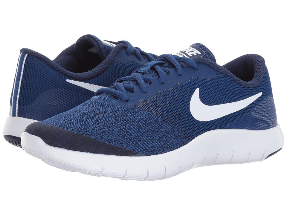 Nike Kids Flex Contact (Big Kid) (Gym Blue/White/Binary Blue) Boys Shoes