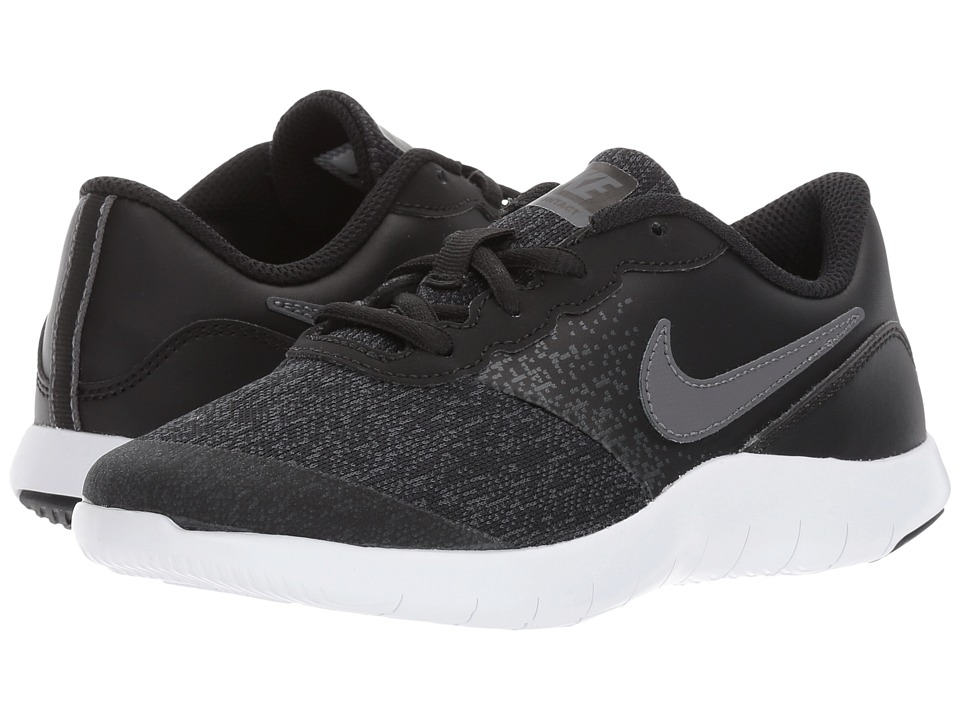 Nike Kids Flex Contact (Little Kid) (Black/Dark Grey/Anthracite/White) Boys Shoes