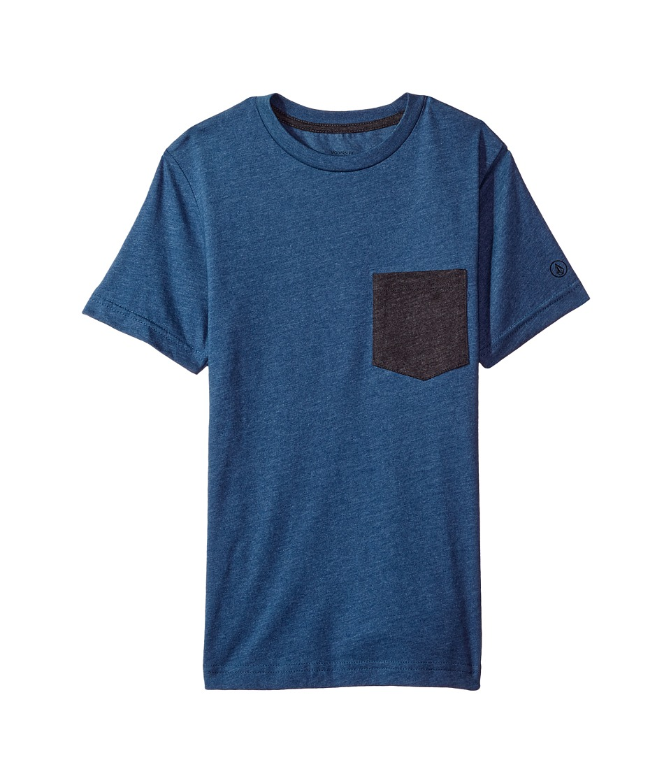 Volcom Kids Twisted Pocket Short Sleeve (Big Kids) (Blue Smoke) Boy