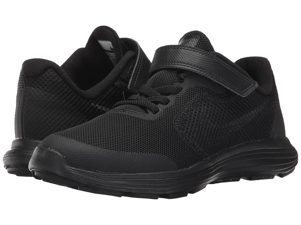Nike Kids Revolution 3 (Little Kid) (Black/Black) Boys Shoes