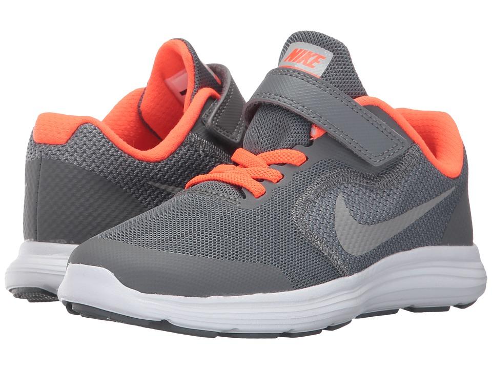 Nike Kids Revolution 3 (Little Kid) (Cool Grey/Matte Silver/Dark Grey) Boys Shoes