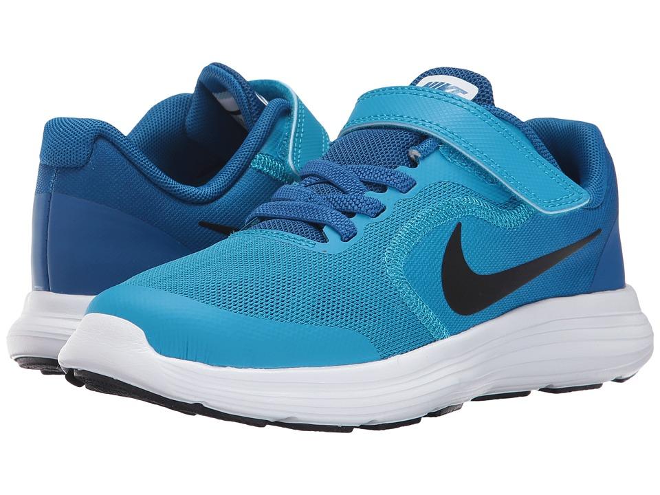 Nike Kids Revolution 3 (Little Kid) (Blue Orbit/Black/Blue Jay/White) Boys Shoes